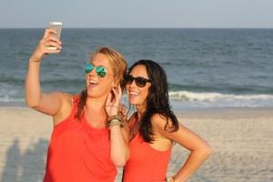 Selfies am Meer